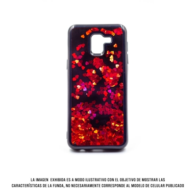 Cover Water Heart Iphone 7 Plus Rojo