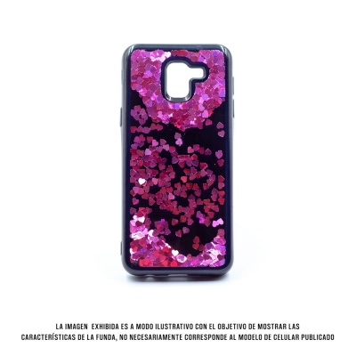 Cover Water Heart Iphone X Rosa