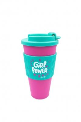 Vaso Cafe G Power Con Tapa Y Faja