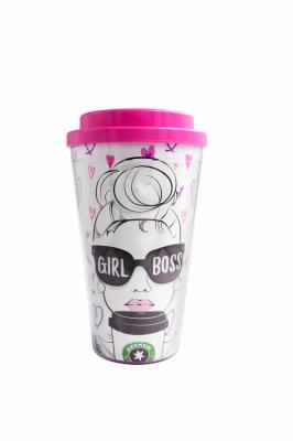 Vaso Termico C/tapa Doble Girl Power